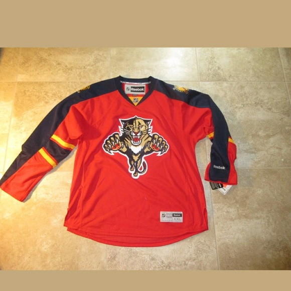 5c86669c1c4 MEN REEBOK FLORIDA PANTHER HOCKEY JERSEY sz XXL